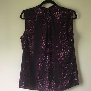 Vance Canuto draped  black & purple blouse sz 10